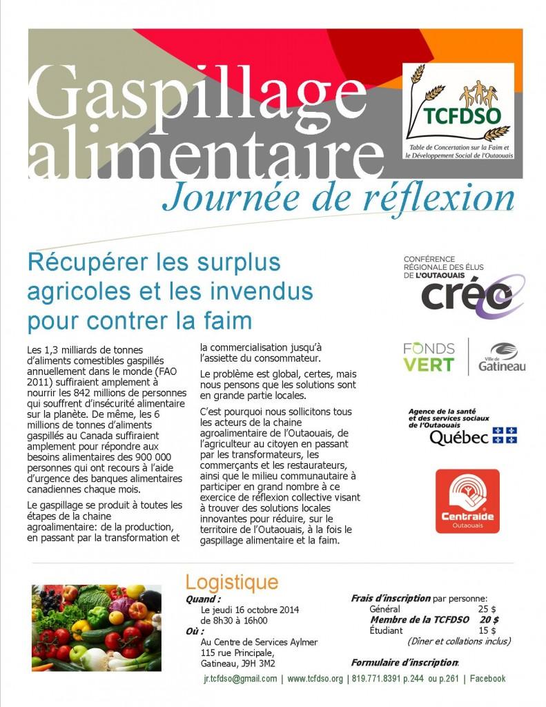 Journée de réflexion: Gaspillage alimentaire: Récupérer les surplus agricoles et les invendus pour contrer la faim